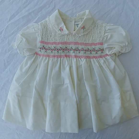 Vintage Dresses Baby Dress Smocked Lace Hand Embroidery Poshmark
